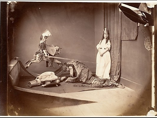 """St. George and the Dragon"" by Lewis Carroll, 1875. The J. Paul Getty Museum"