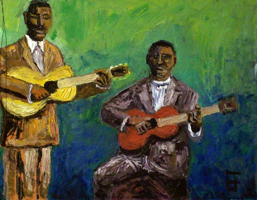 """Frank Stokes and Furry Lewis"" by Allen Forrest"