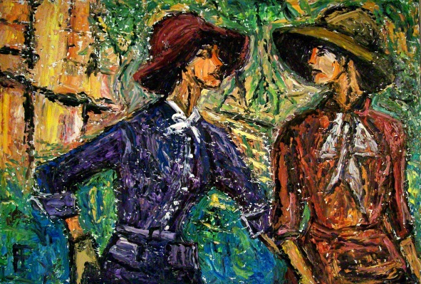 """Women Wearing Hats 2"" Allen Forrest"